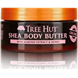 Tree Hut 24 Hour Intense Hydrating Shea Body Butter Almond & Honey, 7oz, Hydrating Moisturizer with Pure Shea Butter for Nourishing Essential Body Care