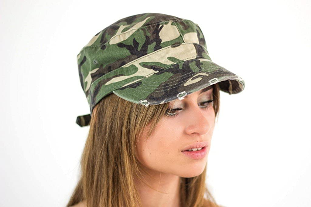 Urban Army Destroyed Cap stile militare usato look