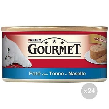 Gourmet Juego de 24 latas atún/Pescado 195 Pasta Comida para Gatos, única: Amazon.es: Hogar