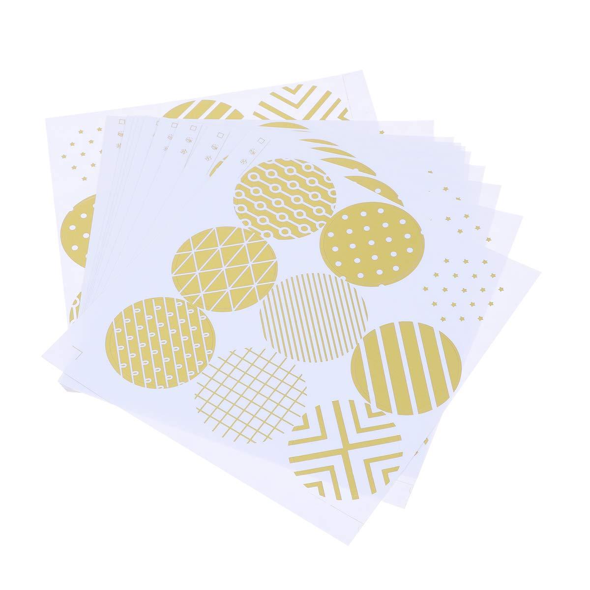 90PCS Gold Sealing Sticker Cookie Egg Cake Adhesive Sticker Candy Box Decorative