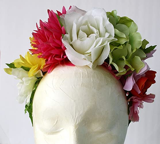 Amazoncom Frida Kahlo Flower Crown Day of the Dead Headband