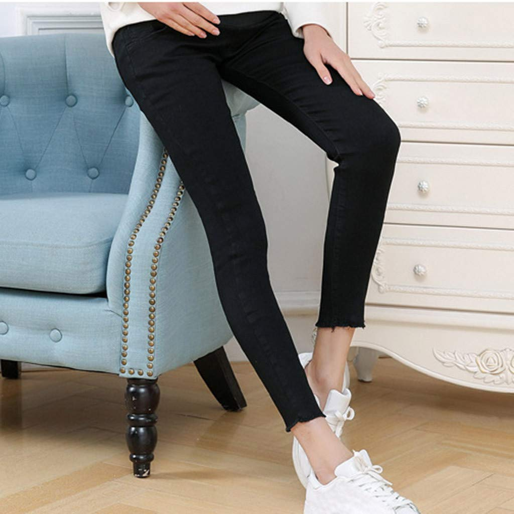 ZOMUSAR Maternity Pants Pregnant Woman Jeans Maternity Pants Trousers Nursing Prop Belly Legging for Lady