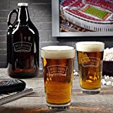 Timeless Wedding Pint Glass and Beer Growler Set (Customizable Product)