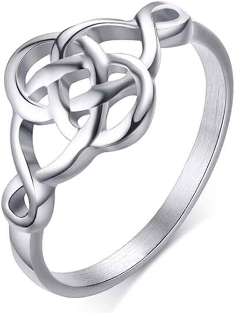 Jude Jewelers Stainless Steel Plain Classical Celtic Love Knot Ring