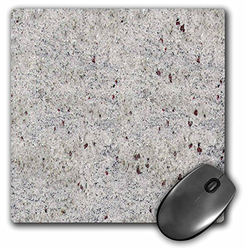 3dRose Picture Of White n Rust Granite print Kashmir - Mouse Pad, 8 by 8 inches -