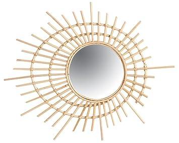 Amazon De Aubry Gaspard Wandspiegel Rund Spirale Aus Rattan