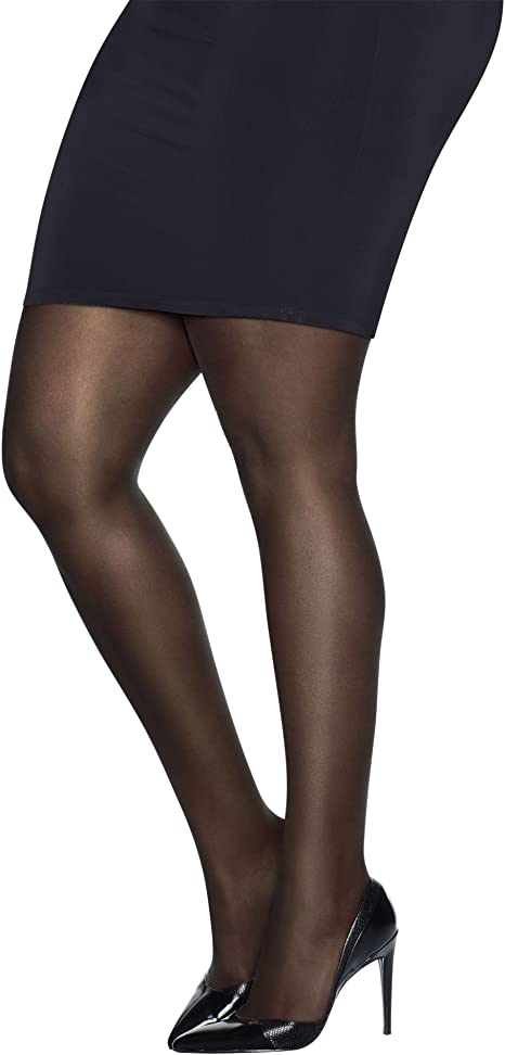 Nude 3X Just My Size Women/'s Run Resistant Control Top Panty Hose