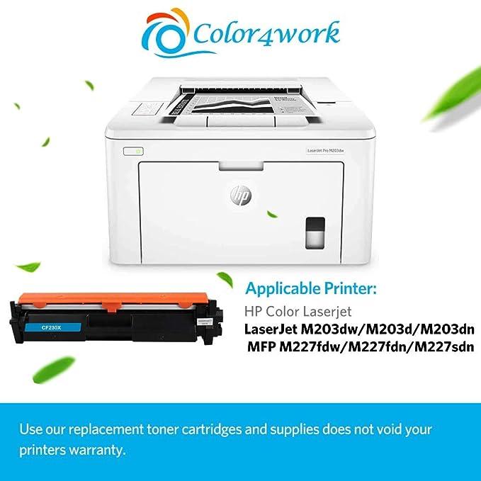 Amazon.com: COLOR4WORK (con CHIP) Compatible 30X (CF230X ...