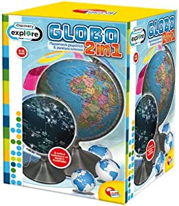 Liscianigiochi 35656 Discovery - Globo terráqueo y planetario 2 en 1 [Importado de Italia]