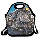 Ghf-LUNCHBAG Retro Steam Train Lunch Bag Insulated Lunch Box