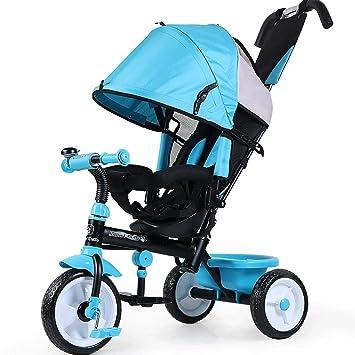 ZXUE Bicicleta Triciclo para Niños con Cubo Cochecito para Bebés 1-5 Años Bicicleta para Niños Carrito de bebé (Color : Azul): Amazon.es: Hogar