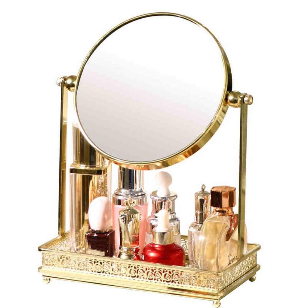 C&Q CQ European Dressing Tabletop Makeup Mirror Simple Fashion Desktop Princess Double-Sided Beauty Mirror by C&Q