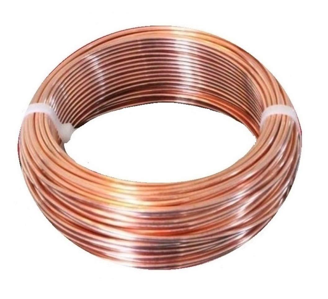 10 Ga Bare Copper Round Wire 50 Ft. Coil (Dead Soft) 99% Pure by Copper wire USA