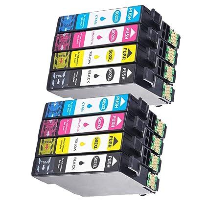 Teng® Cartucho de Impresora Epson 502 XL Compatible con Epson ...
