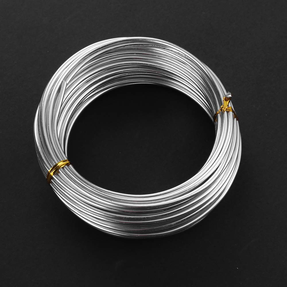 32.8 Feet Black Aluminum Craft Wire 1.5 mm Thickness Bendable Metal Craft Wire for DIY Crafts Making