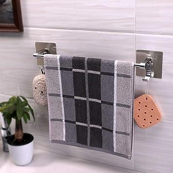 Perchero libre Toallero,Espacio aluminio/Taladro libre/Autoadhesivo/Colgador de toalla de