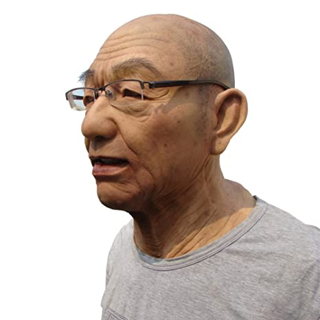 SUAN Realista Viejo Hombre Máscara Silicona Cabeza Completa ...