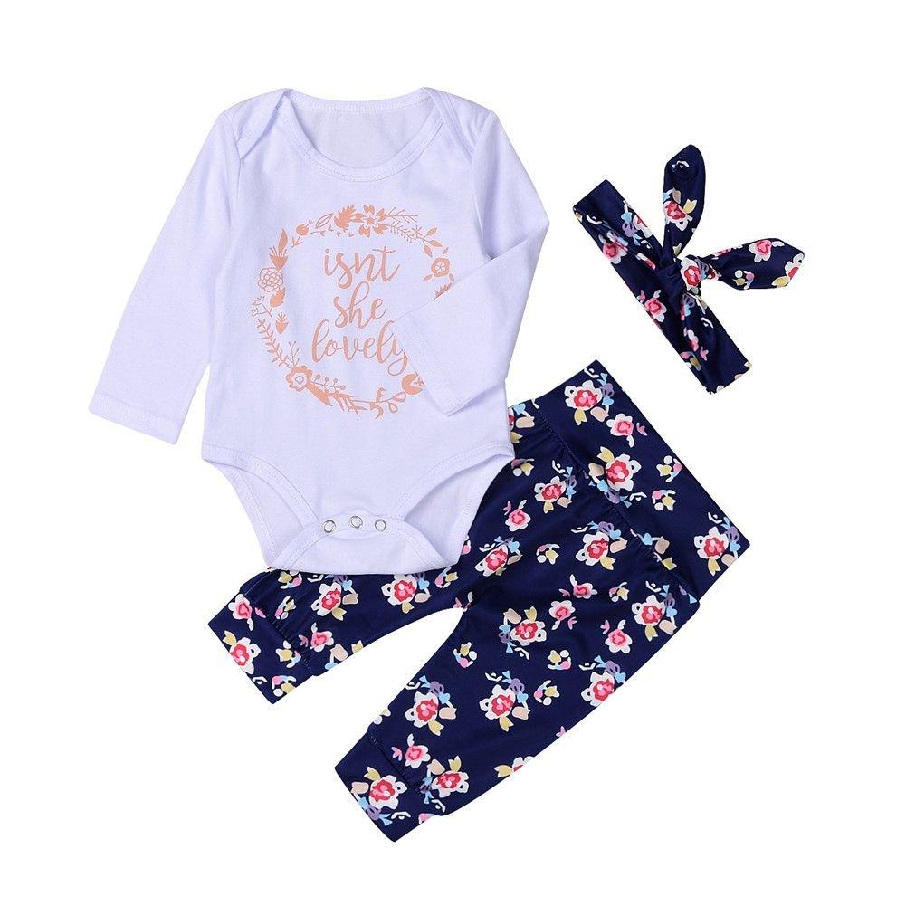 Archetto BOBORA Neonato Bambine e Ragazze Abbigliamento Set Bianco Pagliaccetti Camicie Pantalone Lungo
