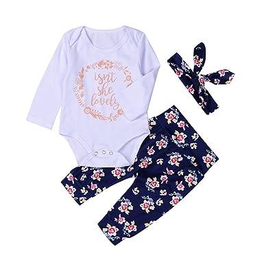 9e1dd833f Amazon.com  BAOBAOLAI Xmas Outfits for Newborn Baby Girls Boys My ...