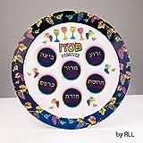 ''Passover Pastels'' Seder Plate Melamine 12''round