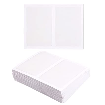 Amazon juvale 100 pack self adhesive business card holders juvale 100 pack self adhesive business card holders pockets open on short side colourmoves