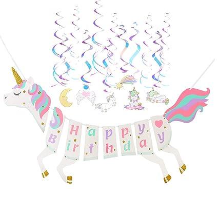 Amazon Unicorn Happy Birthday BannerParty Supplies80s 90s
