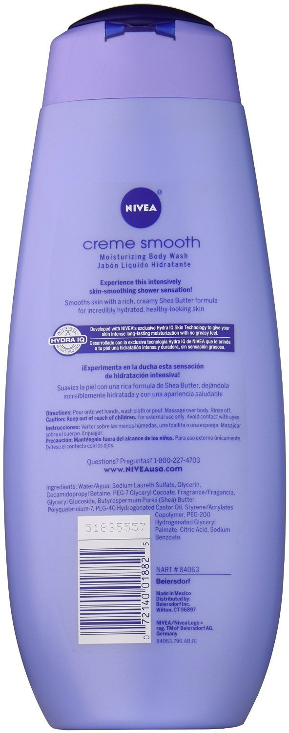 Amazon.com: Nivea Body Wash Creme Smo Size 16.9z Nivea Body Wash Creme Smooth 16.9z: Beauty