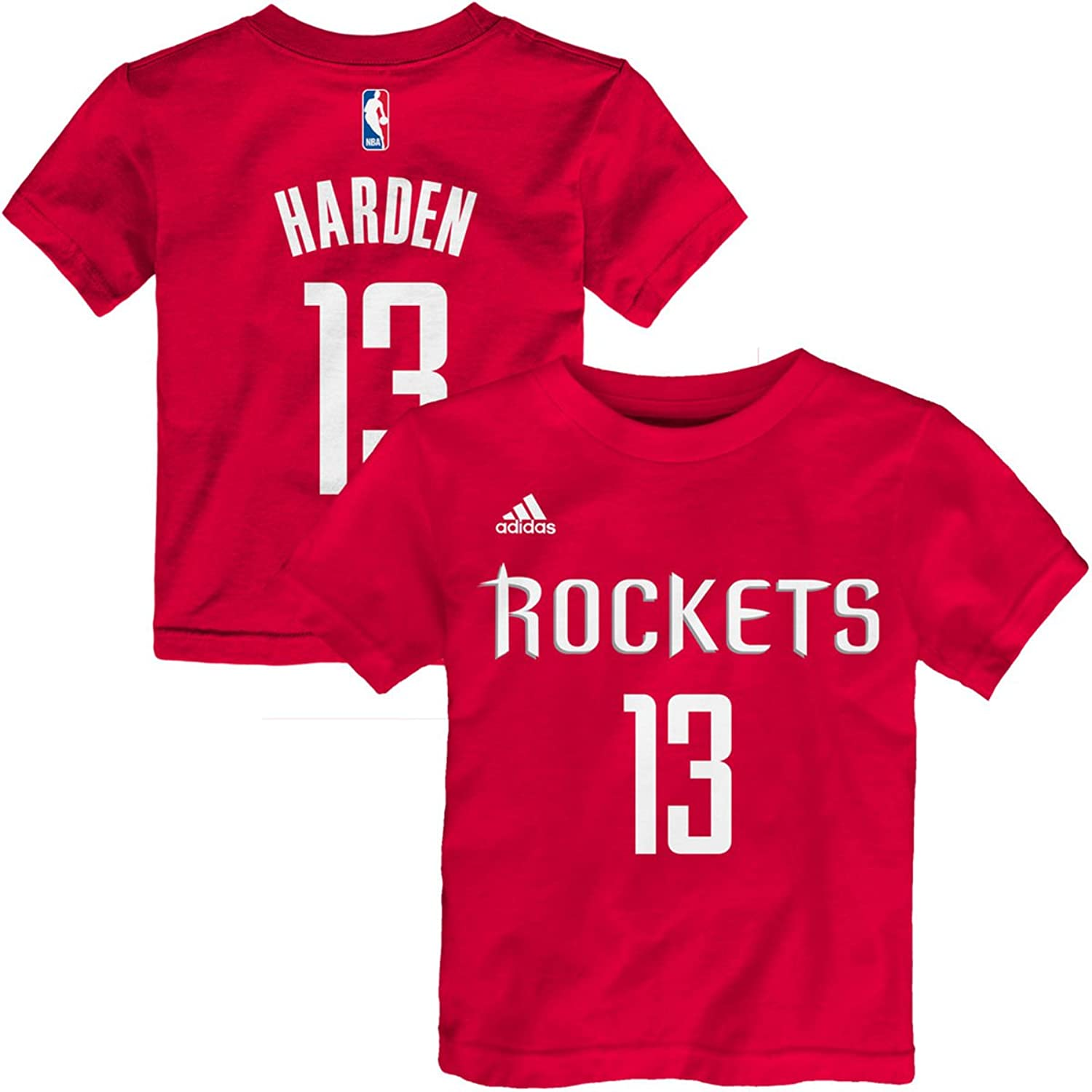 f5640f0b23b OuterStuff James Harden Houston Rockets  13 Red Kids 4-7 Home Name and  Number