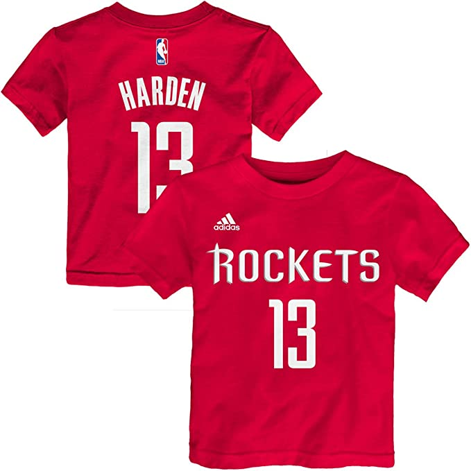 69f1519bca108 James Harden Houston Rockets #13 Red Kids 4-7 Home Name and Number T Shirt