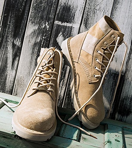 Cool Lace Boots Combat Up Aisun Beige Round Women's Toe 5Rqv1