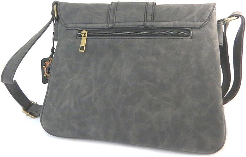 P3139 - Sac cr/éateur noir vintage - 27x10x8 cm 2 compartiments Lili Petrol