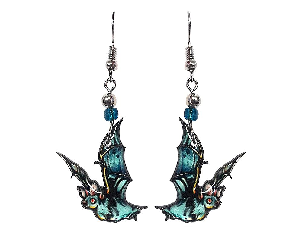 Spooky Halloween Bat Dangle Earrings Mia Jewel Inc.