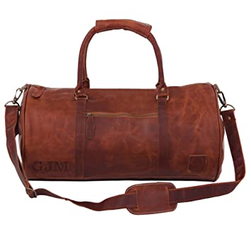 Leather Duffle Bag Weekend Bag Overnight bag Gym Bag in Vintage Brown by MAHI  Leather 510a0baabef4b