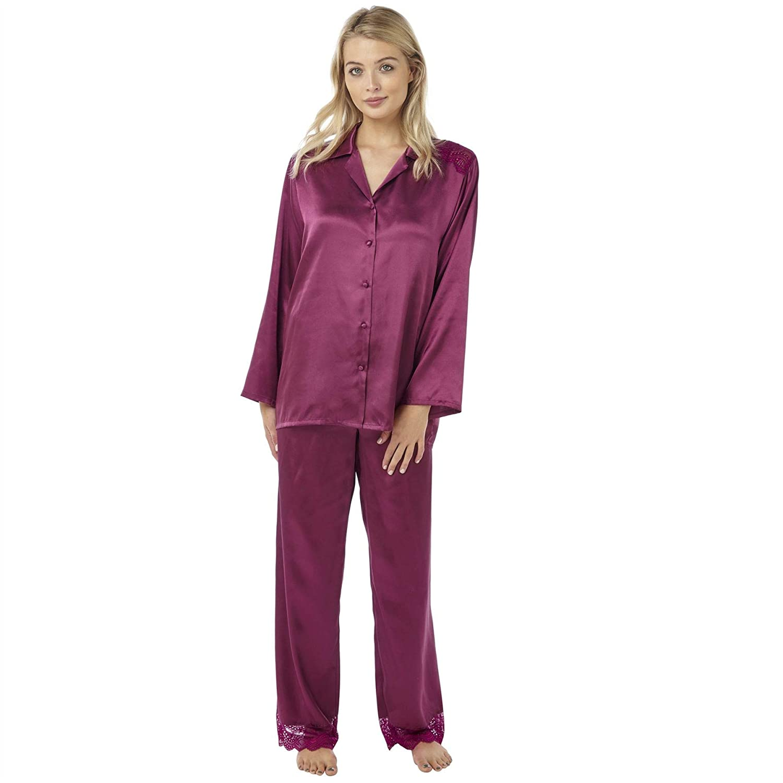19bc71d58d1126 60%OFF Indigo Sky Damen Schlafanzug, Einfarbig Grape WsI6BXzt - www ...