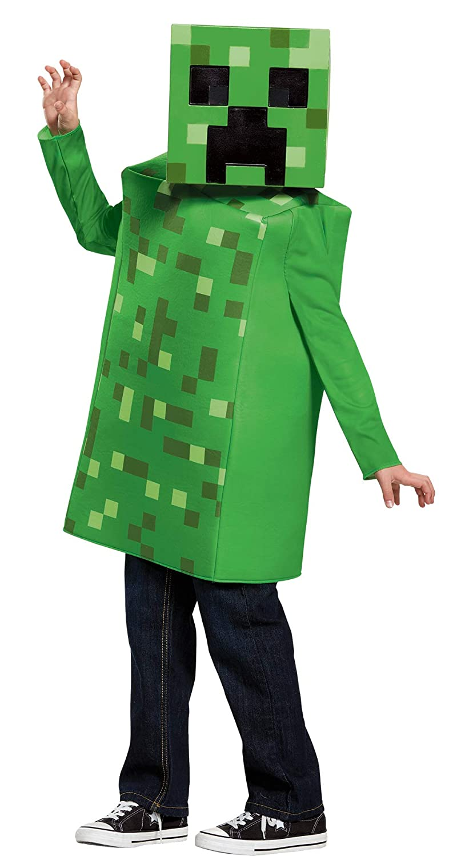 UHC Boy 's MinecraftクリーパークラシックOutfit Funnyテーマ子ハロウィンコスチューム Child M (7-8) グリーン B075R9JM2W