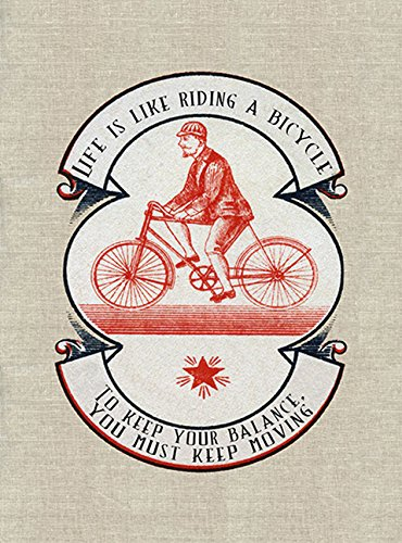 Balance  - Greeting Cards, pkg of 6: Greeting: Life is like riding a bicycle.  To keep your balance you must keep moving (blank ()