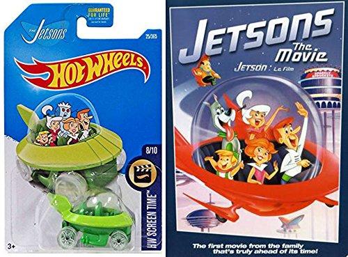 Hanna-Barbara The Jetsons movie & Hot Wheels Capsule car spaceship 2-pack cartoon with toy (Disney Halloween Cartoons 80's)