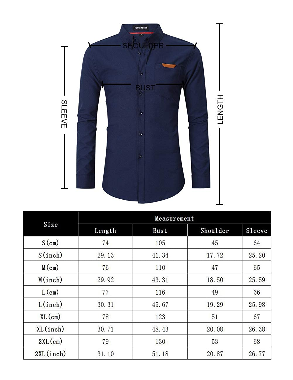 X-Large, Black Mens Casual Slim Fit Button Down Dress Shirt Long Sleeve Solid Oxford Shirt