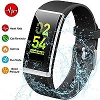 Yoolaite Fitness Armband Uhr Wasserdicht Fitness Trackers Pulsmesser Farbbildschirm Aktivitätstracker Pulsuhren Schrittzaehler Stoppuhr Fitness Uhr für Damen Herren Kinder