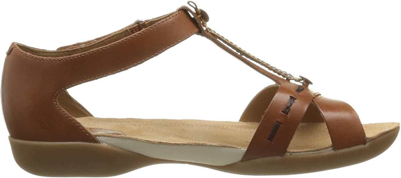Clarks Raffi Magic 203580554 Damen Sandalen, Braun (Tan
