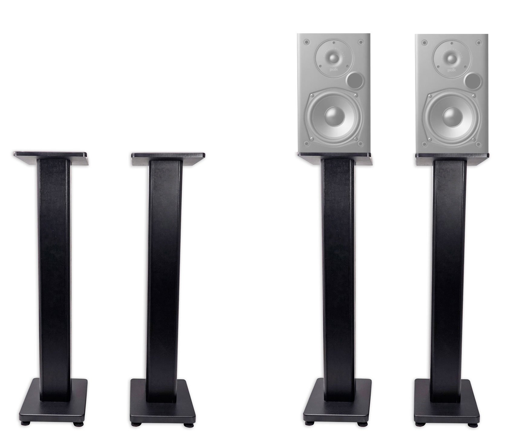 Pair 36'' Bookshelf Speaker Stands For Polk Audio T15 Bookshelf Speakers