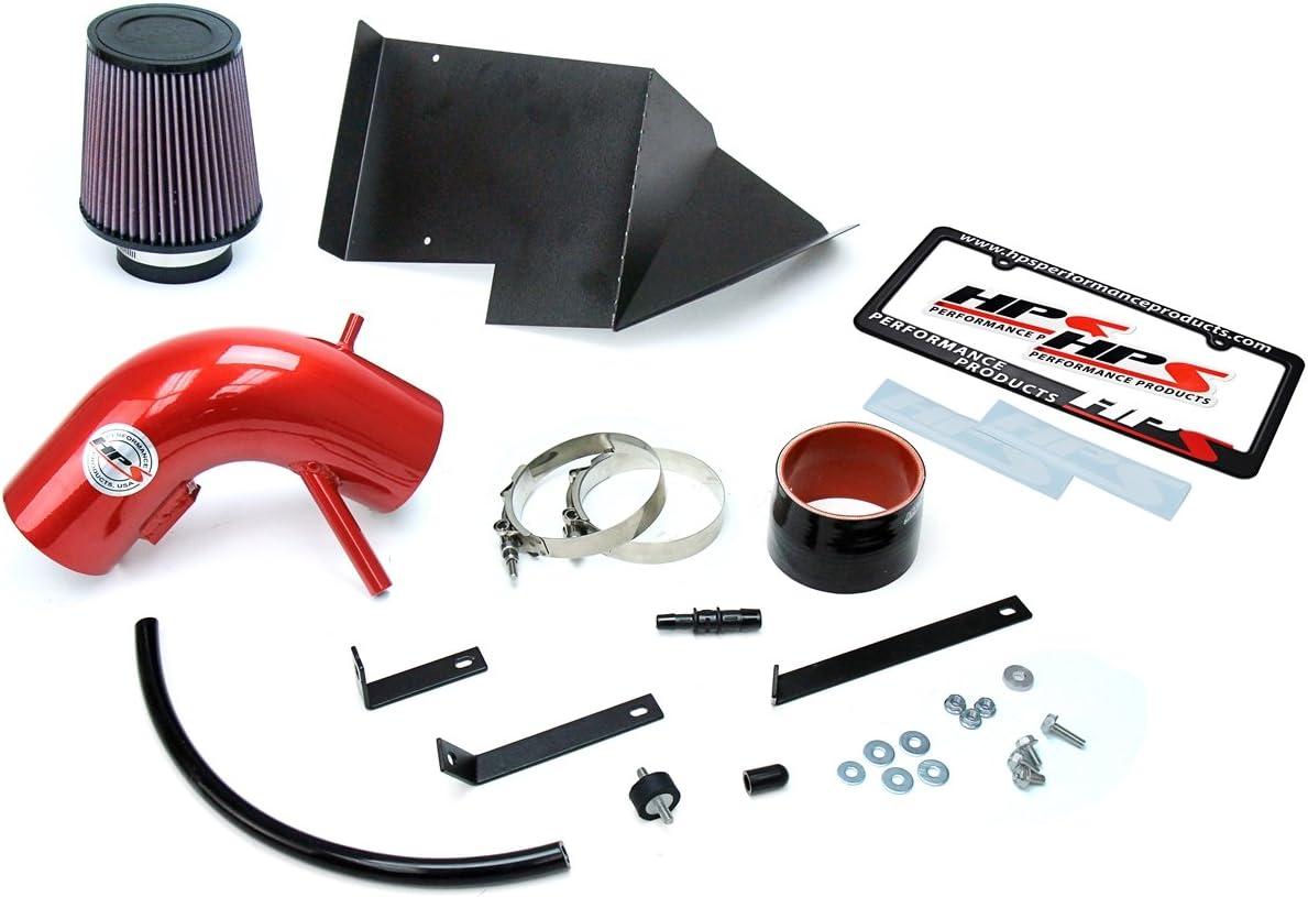1 Pack HPS 27-525R Red Shortram Air Intake Kit Cool