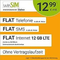 Mobiele telefoon contract winSIM LTE All 12 GB - zonder contractduur (Flat Internet 12 GB LTE met max. 50 MBit/s met…