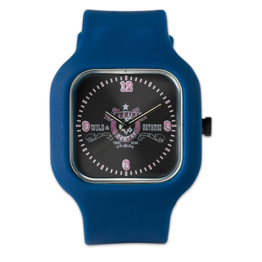 Navy Blue Fashion Sport Watch Cowgirl Country Wild and Untamed