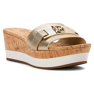 MICHAEL Michael Kors Womens Warren Platform Open Toe Casual, Pale Gold,  Size 7.0