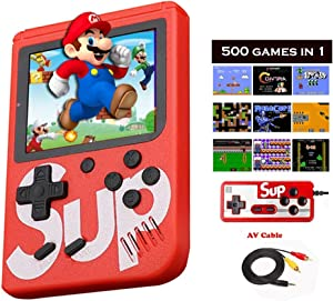 HDStore New Game Consoles for N E S Built in 500 in 1 Classic Best Video 3.0 -Inch Color Screen Support for Connecting TV & Two Players, Built-in 1020mAh Rechargeable Battery (Sub 500)