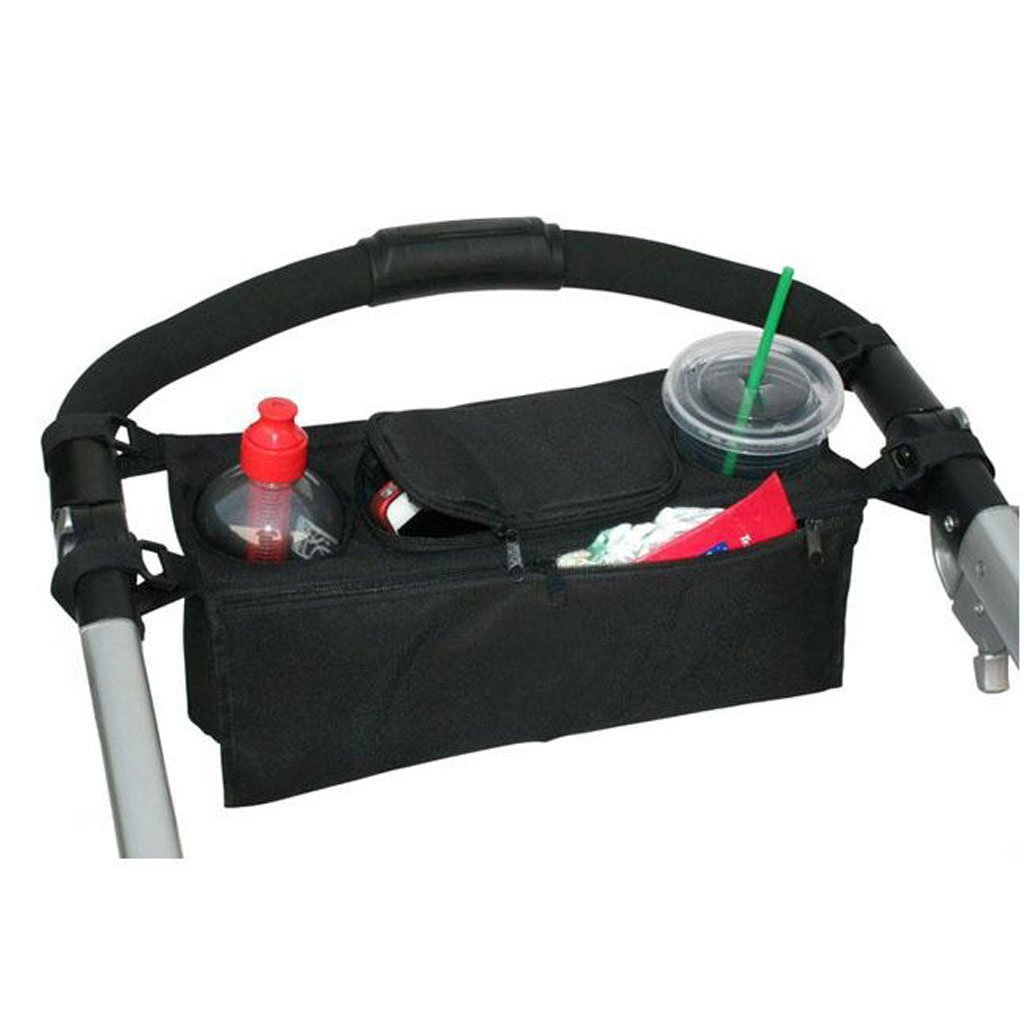 Black DWSFADA Multi-Functional Portable Baby Cart Hanging Bag Organizer Pram Cup Holder Carry Cups for Baby Stroller