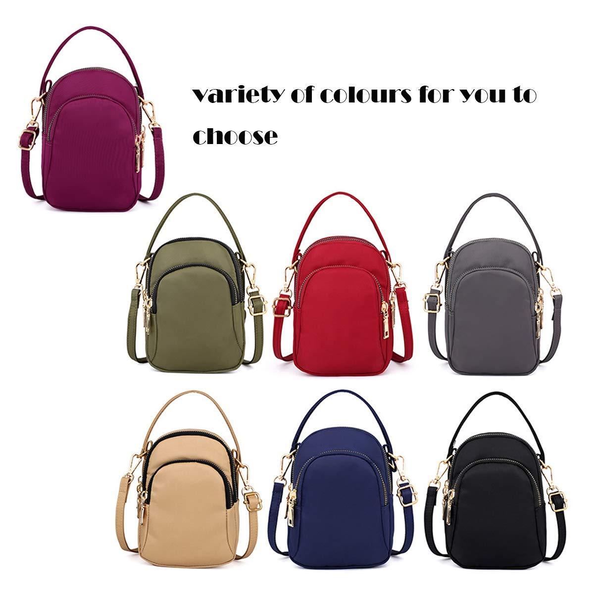 Cxjff nylon vattentät liten mode cross-body väska axelväskor passar dam och flickor (blå) (färg: Grön) gRÖN