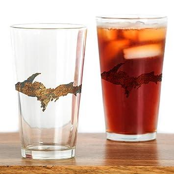 CafePress - Raw flotador de cobre - vaso, 16 oz. Vaso transparente: Amazon.es: Hogar
