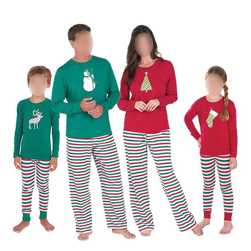 Xinvision Familia de Coincidencia de Patrones de Navidad Pijamas Set - Hombres Mujer Chico Niña Niños Bebé Xmas PJs Sleepwear Ropa de Dormir Manga Larga ...